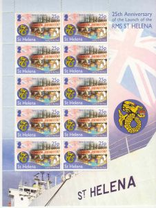 25 Yrs RMS St Helena 25p Sheet