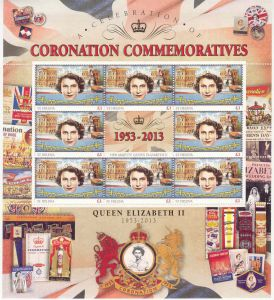 60th Ann QEII Coron �1 Sheet