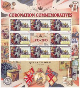 60th Ann QEII Coron 20p Sheet