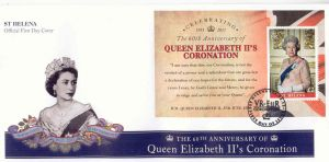 60th Ann QEII Coronation S/S FDC
