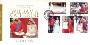 Royal Wedding 5v FDC
