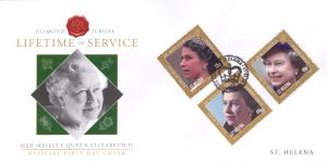 Diamond Jubilee 3v FDC (1)